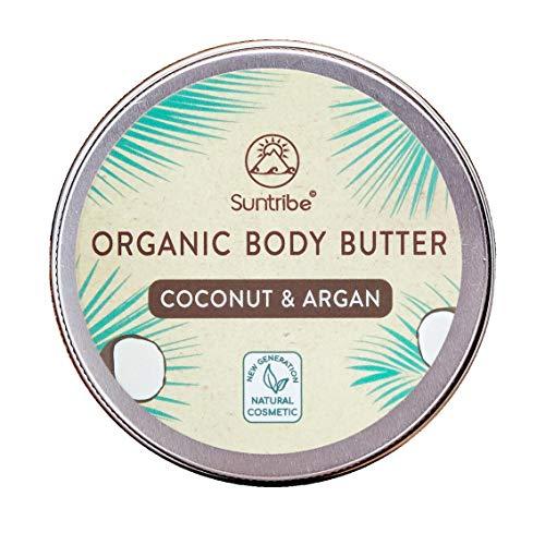Suntribe Crema Corporal Natural COCO & ACEITE DE ARGAN - 100% Orgánic