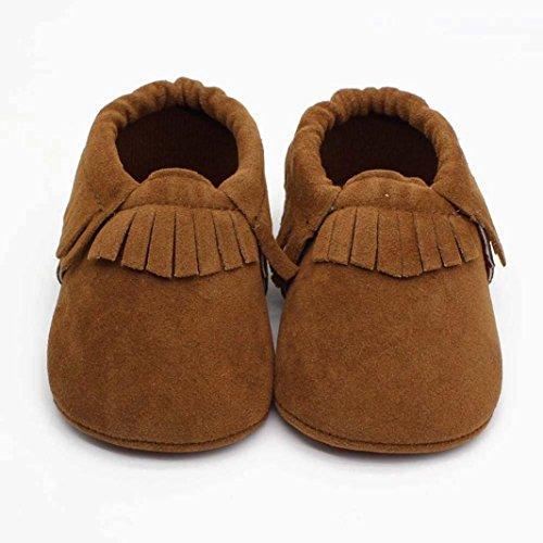 Clode® Kleinkind Baby Mädchen Scrubs-Quasten Schuhe Weiche Sohlen Krippe Schuhe Khaki