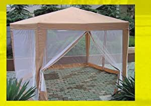 Hexagonal Gazebo 2 x 2 x 2 m With Insect Screen Side Panels
