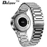 Dokpav® Bracelet de Remplacement Bande de Rechange en acier inoxydable 46mm pour HUAWEI Montre- Argenté