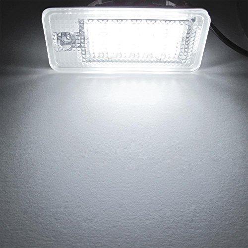 Matrícula LED Luz de Día 18-SMD Para Audi A8 A4 S4 B6 B7 A6 Blanco
