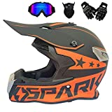 Casque Motocross Adulte Casque Moto Hors Route ATV Cross Casques Dot Moto Crossbike...
