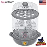 #3: Trumom (USA) Electric Steam Sterilizer for feeding (6 Bottles) And Baby Food Steamer (Steams Vegetables And Other Baby Food Naturally) …