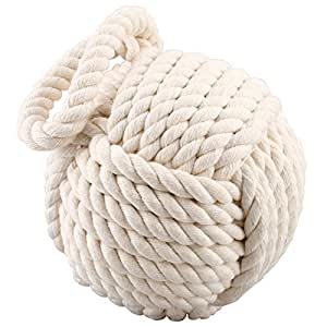 Qualità, motivo corda, con nodi Fermaporta, colore: crema