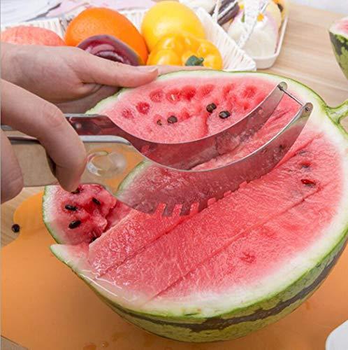 TAOtTAO 20.8 * 2.6 * 2.8cm Edelstahl Watermelon Slicer Cutter Corer Gemüse Früchte Werkzeuge Küchenhelfer