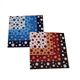 PrettyurParty Red And Blue Polka Dots Paper Napkins - Set Of 2