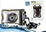 Navitech Schwarzes Wasserfestes Case / Cover / Hülle / Unterwasserkamerahülle für Canon IXUS 180