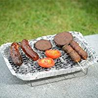 BARGAINS-GALORE DISPOSABLE BBQ INSTANT GRILL CHARCOAL DISPOSABLE OUTDOOR COOKING CAMPING SUMMER