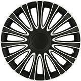 ASD TECH PP 5137 Pack de 4 Enjoliveurs Design Lemans 17'' Noir/Argent
