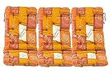 3er Set Polsterauflage Gartenstuhlauflage Hochlehnerkissen Sitzauflage Terrakotta / Orange