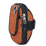 Laufender Armband-Telefonhalter, Fitness Arm Tasche Tauchen Handy Arm Band für iPhone Zehn/X 6 7 8 Lauf und Radfahren Arm Tasche (Farbe : Orange, Größe : Big)