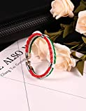 #9: BIMAGE World Cup Unisex Fashion Contrast Color Braided Hasp Clasp Country Flag Bracelet Soccer Fan Gift