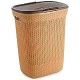 Aufers Paradise 50L Laundry Basket | Laundry Square Basket | Laundry Basket with lid for Clothes