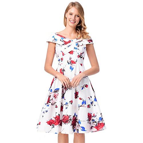 Festlich Partykleid   Damen Kleid Europäischen und Amerikanischen Damen   Schultern Kreuz...