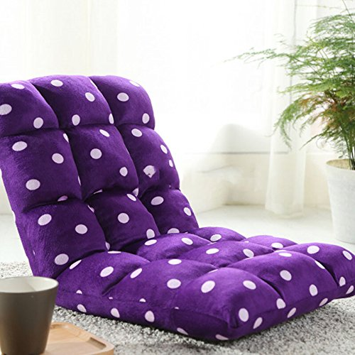 G-Y Faules Sofa, Einfaches Mode-Sofa-einzelnes Sofa, Faltendes Sofa (kann Waschbar Sein) (Farbe : Purple Wave Point (Large)) -