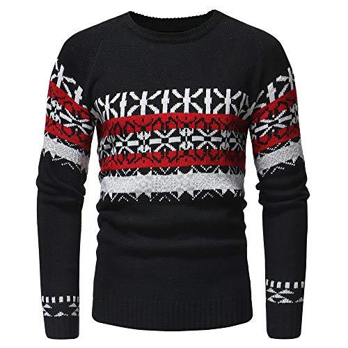DEELIN Herren Herbst Winter Pullover Strickjacke Mantel Print Pullover Jacke Outwear