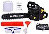 liekes 58cc 20pulgadas Motosierra funciona con gasolina con cubierta de la Guía, Juego de herramientas, guantes, Máscaras
