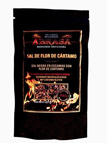 """SAL DE FLOR DE CARTAMO \""""Schwarze Meersalzflocken mit kanarischem Safran\"""""""