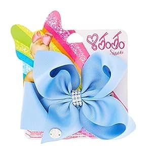 JoJo Siwa Small Rhinestone Keeper Cornflower Blue Hair Bow ...