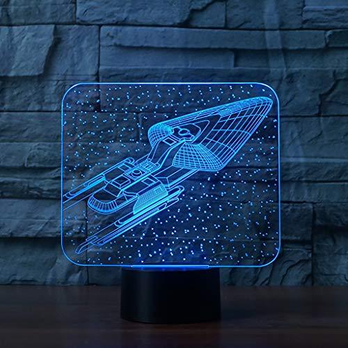 tlicht, 7 Farben blinken, Touch-Schalter USB Powered, Schlafzimmer Schreibtischlampe, für Kinder Geschenke Dekoration Ideal Kunst und Handwerk (Raumschiff) ()