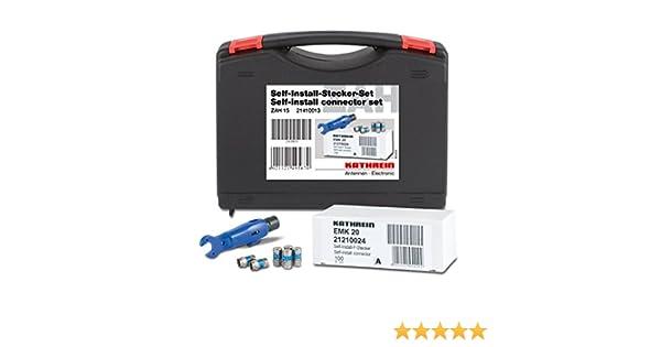Kathrein ZAH 12 Plastik-Box F-Kompressions-Stecker-Set