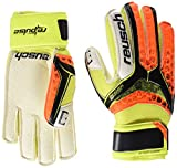Reusch Niños RE: Pulse RG Finger Support Junior Portero Guante, Infantil, Color Black/Shocking Orange, tamaño 4