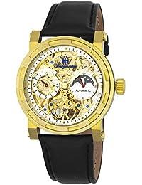 Burgmeister Armbanduhr für Herren mit Analog Anzeige, Automatik-Uhr und Lederarmband - Wasserdichte Herrenuhr mit zeitlosem, schickem Design - klassische Uhr für Männer - BM243-202 Garden Grove