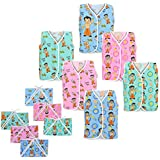 Chhota Bheem Baby Printed Cotton Multi Color Sleeveless Jhabla, Nappies For New Born - Pack Of 12