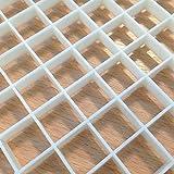 Gitter für Aquarium/Fischbecken für die Aquariengestaltung, Marine, Korallenriff,15x 30cm, Schwarz und Weiß