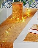 Tischläufer aus 100 % Kork - Ökotex 100 / phathalatfrei - 200 cm x 45 cm - Kork laminiert mit einer Vlies -Rückseite, vielseitige Gestaltungsmöglichkeiten und Nutzungsvarianten, Material ist frei zuschneidbar und abwischbar - Markenqualität - hochwertig - stilvoll und elegant - auch zum Basteln und Gestalten von Taschen, Accessoires, Tischsets, Dekorationen und und und - Neu aus dem KAMACA - SHOP