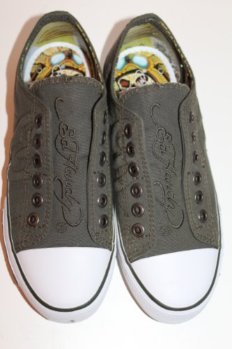 Ed Hardy, Sneaker donna, verde (Military Green), 3.5 UK
