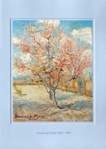 Artoz Kunstkarte van Gogh: Souvenir de Mauve, Format B6, ein Set besteht aus Einlegeblatt, Kuvert und Karte - verpackt zu 6 Sets - Preis für 6 Sets