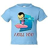 Camiseta niño Dragon Ball Tao Pai Pai Kawaii - Celeste, 12-14 años
