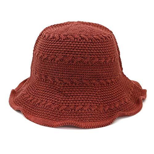 Mafia Kostüm Weibliche - youjiu New Becken Kappe Fischer Hut weiblichen Sonnenschutz Strand Hut Faltbare Visier @ Brick red_Adjustable