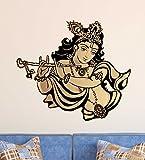 #10: Decal Design 'God Krishna Playing Flute Beautiful Design' (PVC Vinyl, 50x70cm, Multicolor)