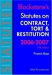 Blackstone's Statutes on Contract, To...