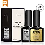 Modelones UV Nagellack Top Coat & Base Coat Unterlack & Überlack Set Gel LED 2x10ml