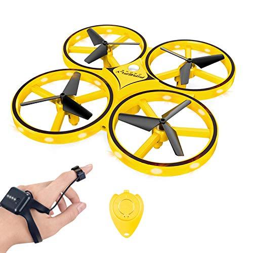 YLJYJ RC Drone für Kinder, 360 ° drehbare Mini-Drohne 32 LED-Leuchten, Quadcopter Interactive Infrared Induction Flying Toys, handgesteuertes Drohnen-Spielzeug für Kindergeschenke