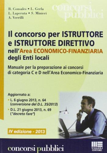 Il concorso per istruttore e istruttore direttivo nell'area economico-finanziaria degli enti locali