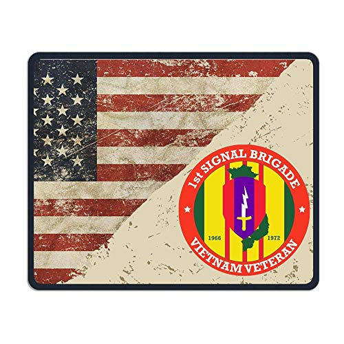 1st Signal Brigade Vietnam Veteran Decal US Flag Maus-Pads Non-Slip Gaming Mouse Pad Mousepad for Working,Gaming and Other Entertainment