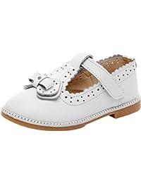 rismart Niñas Colegio Formal Princesa Hermosa Cuero Zapatos de Vestir