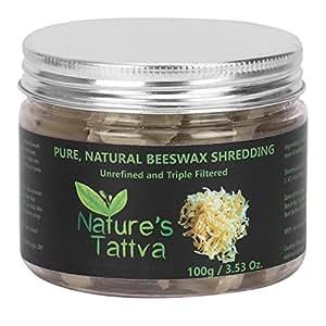 Nature's Tattva Pure Natural Beeswax Shredding's, 100g