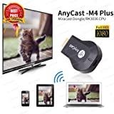 1080P AnyCast M4 Plus Wireless WiFi Display Dongle Receiver HDMI Media Video Streaming (Black) by Zebrics