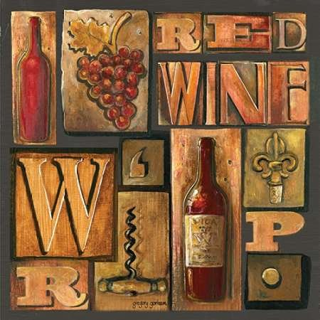 Feelingathome.it Canvas 100% Cotton set Wine Framed typing Sq I-inch 61 x 61 cm (Customisable dimensions on request)