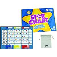 Reward Chart for Children by SmartPanda – Magnetic Star Chart Inspires Good Behaviour – Perfect for Kids, Toddlers, Boys and Girls. Potty Training and Habit Trainer