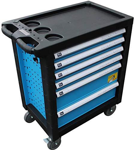 DeTec. Werkstattwagen blue Edition inkl. Werkzeug + GRATIS COB Akku - 2