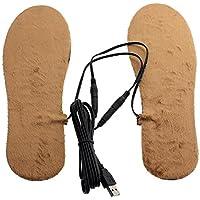 USB Electric Power Beheizte Warmer Schuhe Stiefel Einlegesohlen schneidbar halten die Füße warm–Braun preisvergleich bei billige-tabletten.eu