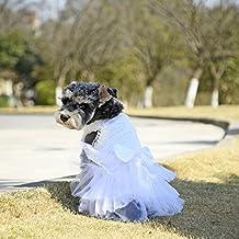 Speedy Pet PAWZ Road Pet vestido de novia para los perros de tamaño pequeño Gatos con lazo de lazo puro blanco santo ( Color : White , Size : #16 )