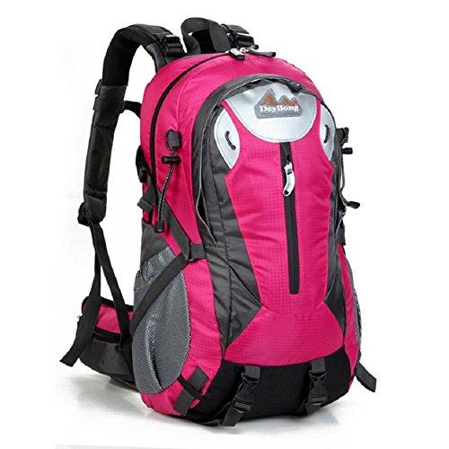 LF&F Backpack 25-30L Hochwertige Wasserdichte Nylon Outdoor Bergsteigen Tasche Unisex Sport Wanderung Urlaub Picknick Party Tasche Verstellbare Gurt Anti-Riss Rucksack Daypacks G