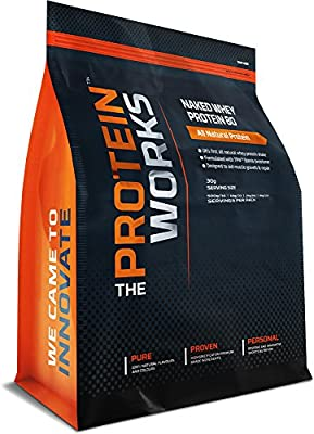 THE PROTEIN WORKS 2 kg Wild Strawberry Naked Whey Protein 80 Protein Concentrate Shake